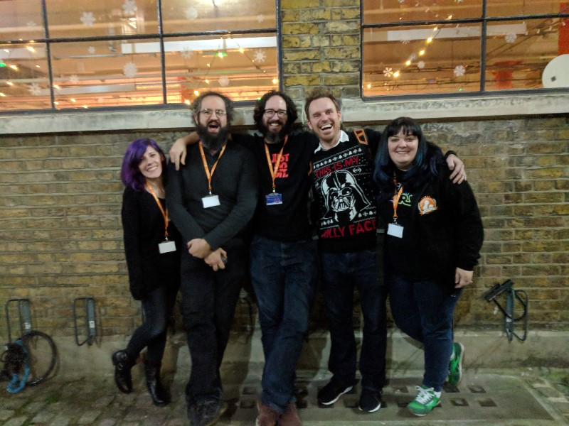 From left to right: Krista Parker, Ryan Spilken, Matthew Stublefield, Neil Penny, Renee Brown